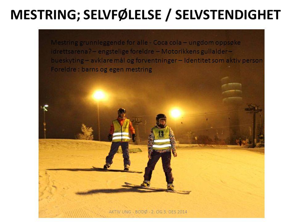 MESTRING; SELVFØLELSE / SELVSTENDIGHET