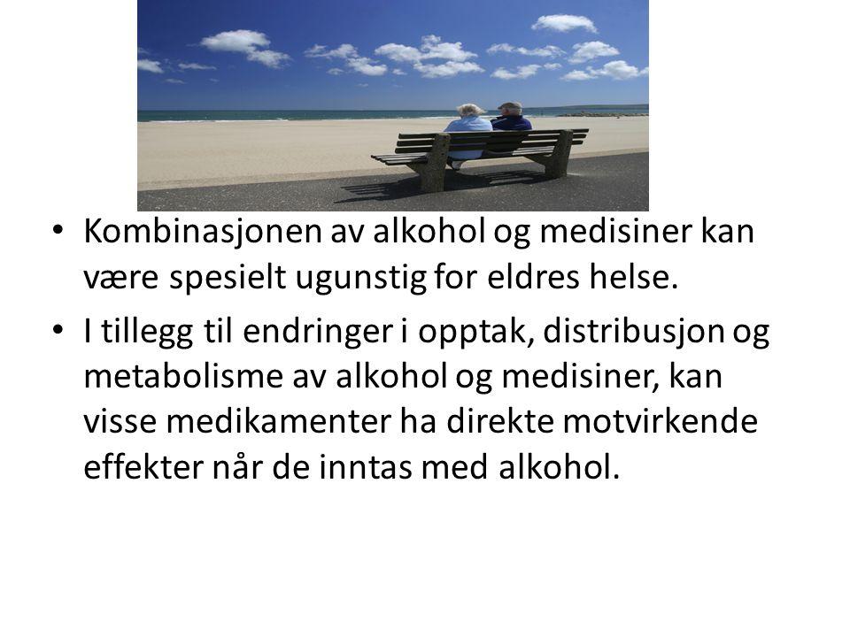 Kombinasjonen av alkohol og medisiner kan være spesielt ugunstig for eldres helse.