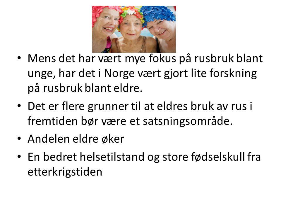 Mens det har vært mye fokus på rusbruk blant unge, har det i Norge vært gjort lite forskning på rusbruk blant eldre.