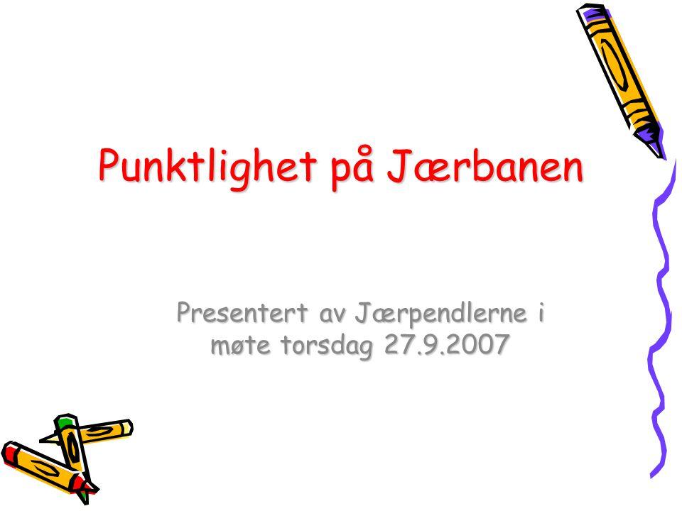 Punktlighet på Jærbanen