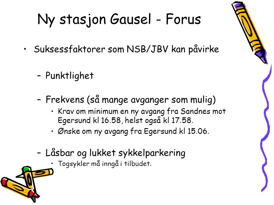 Ny stasjon Gausel - Forus