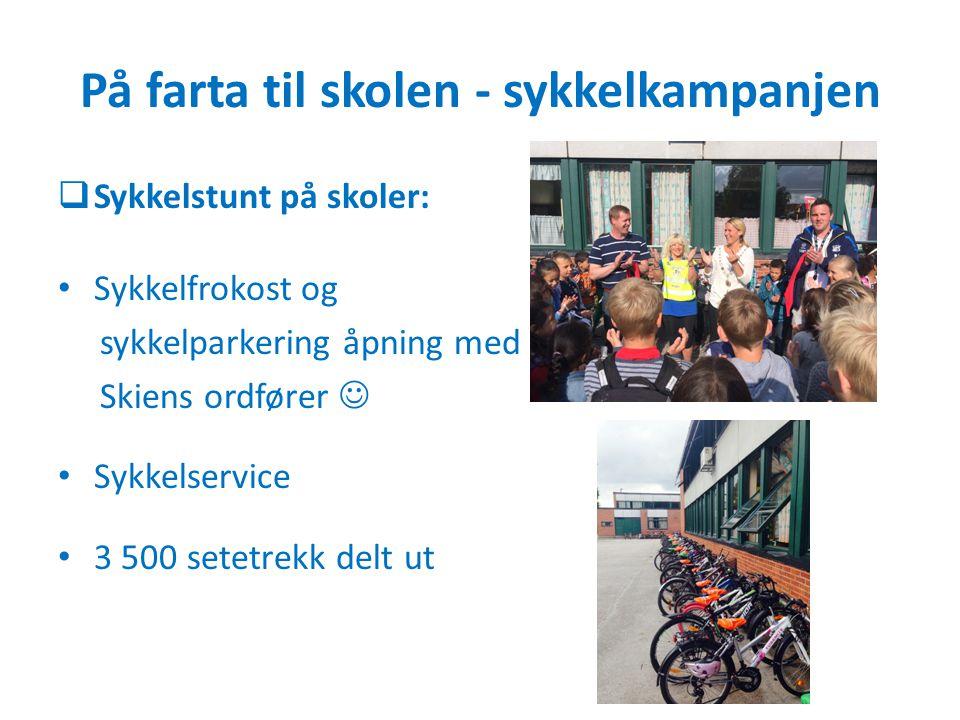 På farta til skolen - sykkelkampanjen