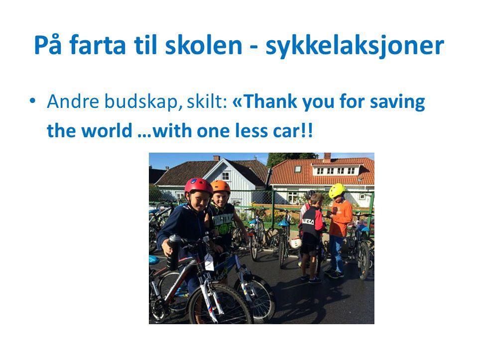 På farta til skolen - sykkelaksjoner