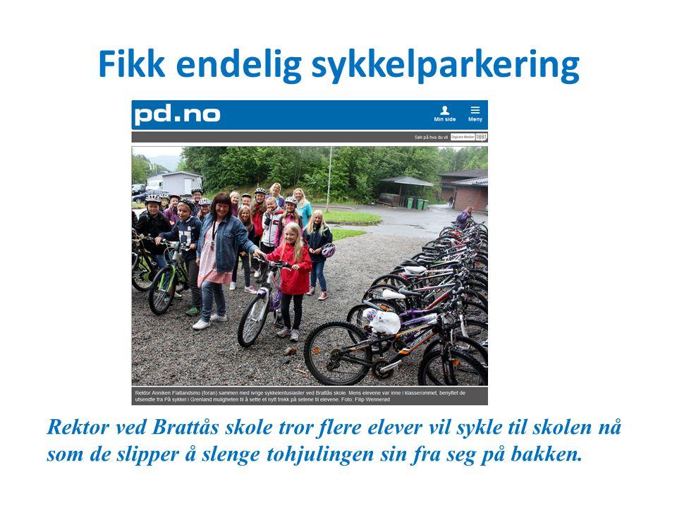 Fikk endelig sykkelparkering