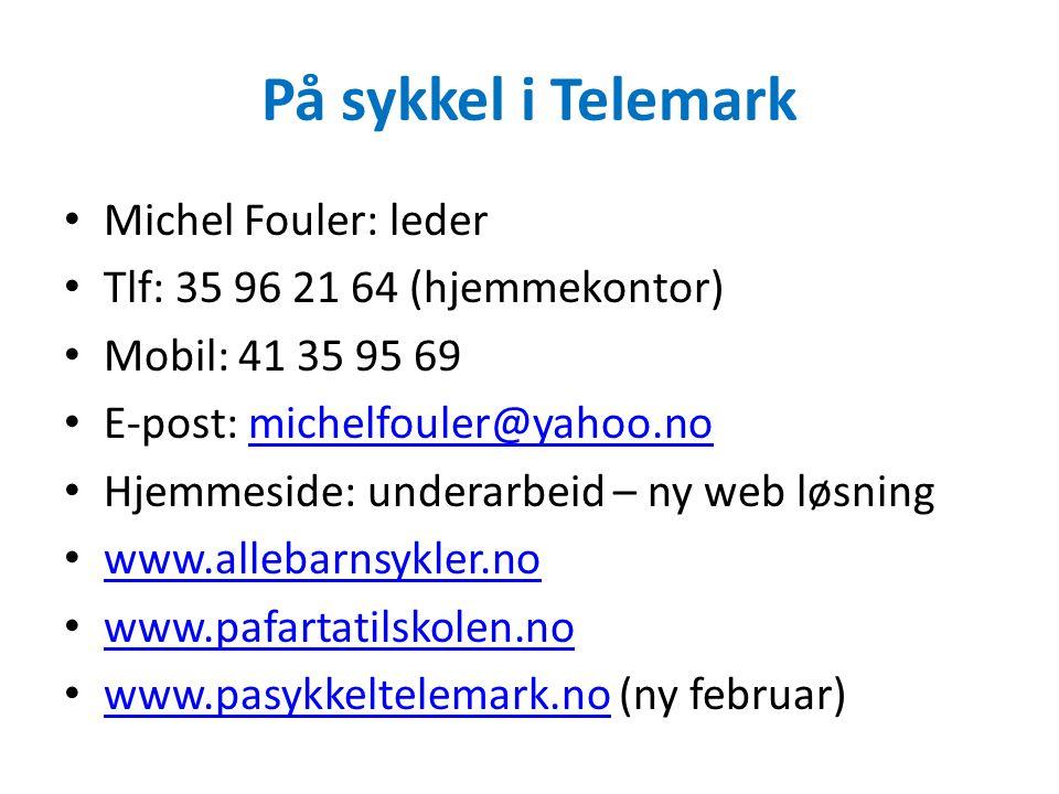På sykkel i Telemark Michel Fouler: leder