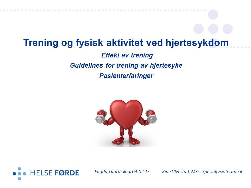 Trening og fysisk aktivitet ved hjertesykdom