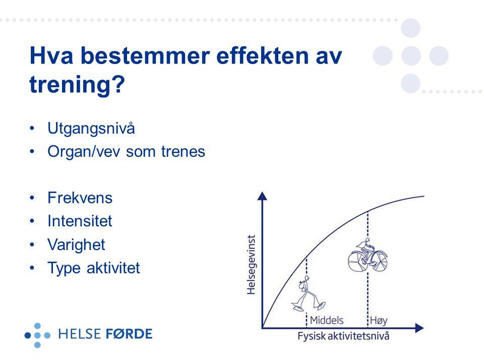 Hva bestemmer effekten av trening