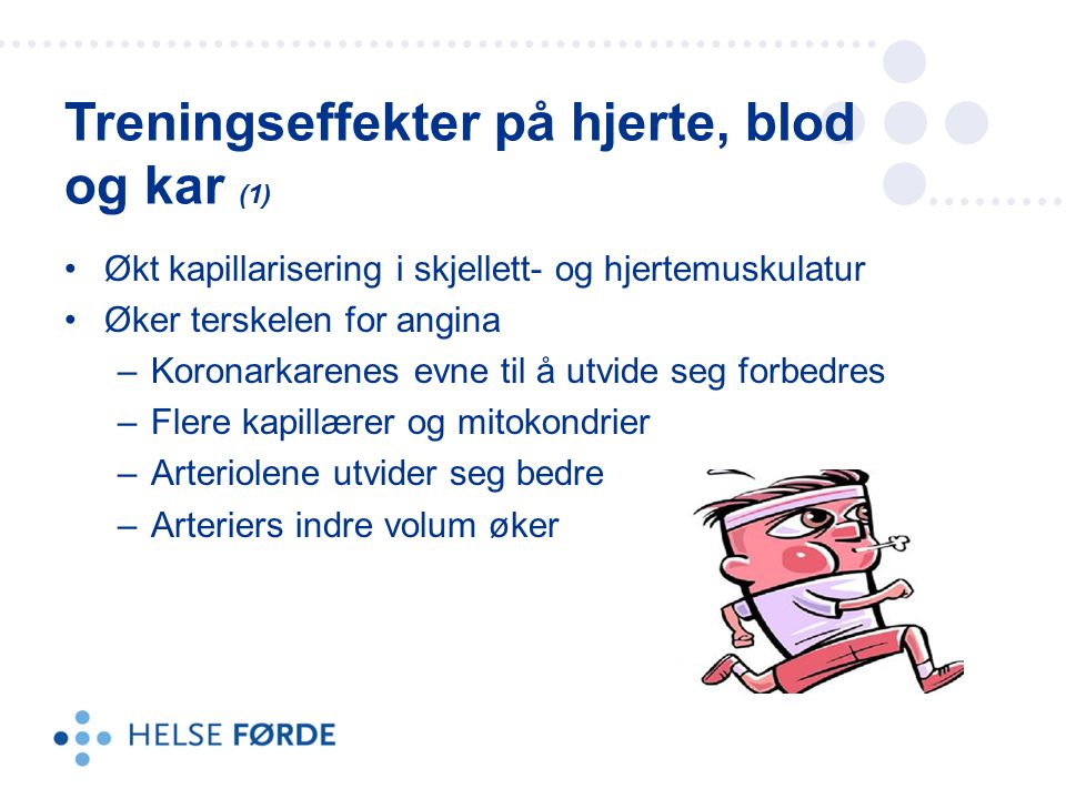 Treningseffekter på hjerte, blod og kar (1)