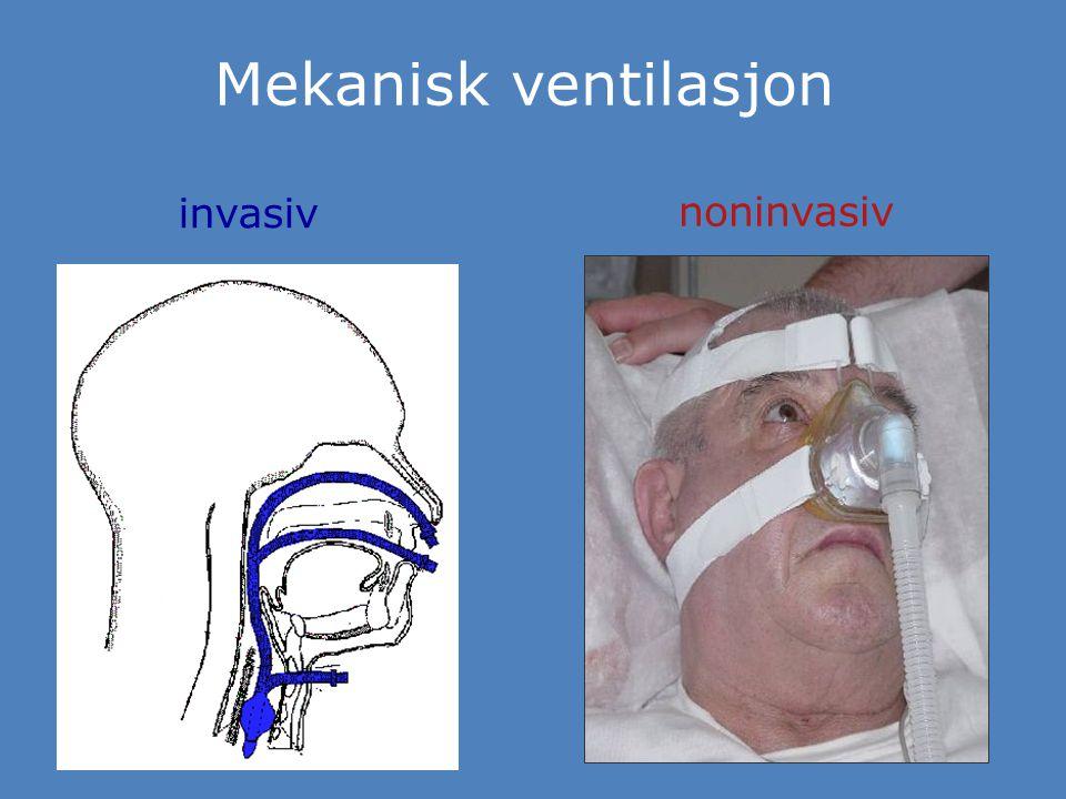 Mekanisk ventilasjon invasiv noninvasiv
