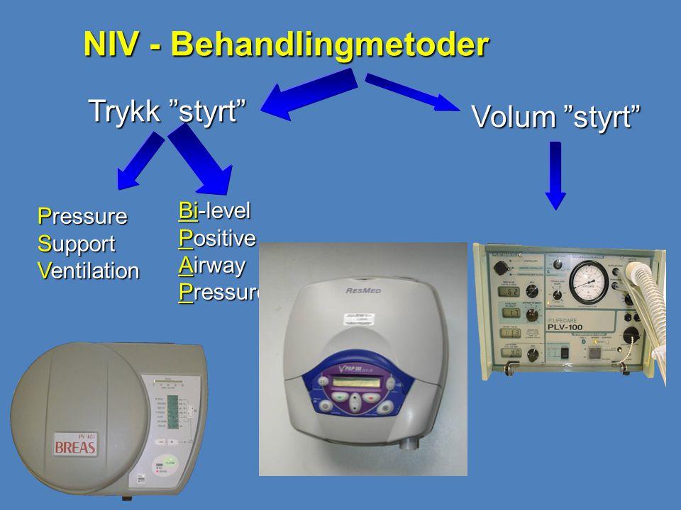 NIV - Behandlingmetoder