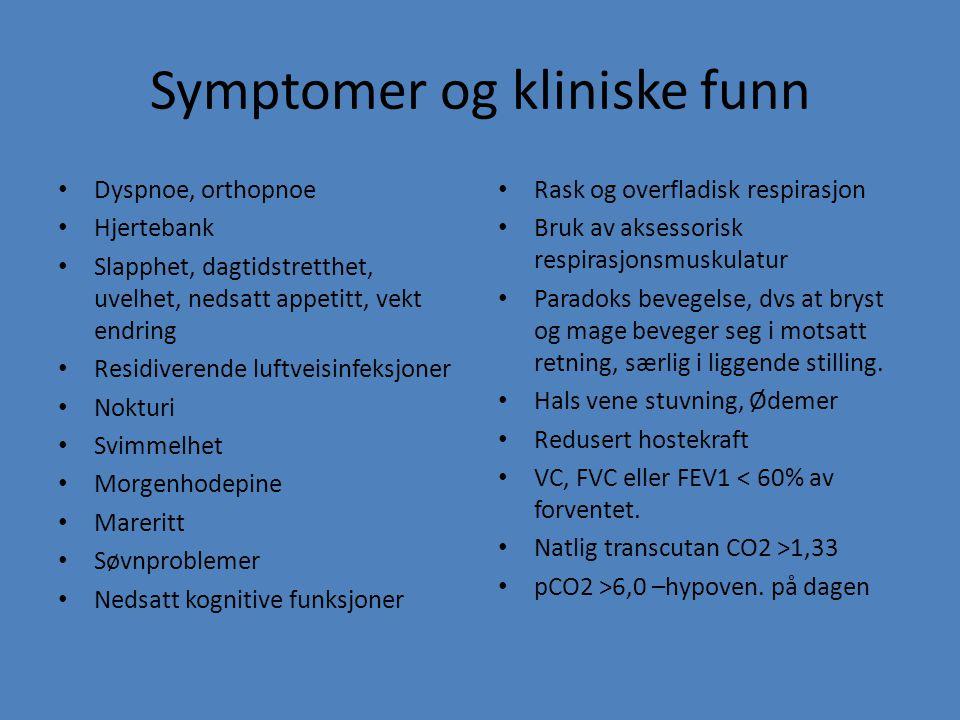 Symptomer og kliniske funn