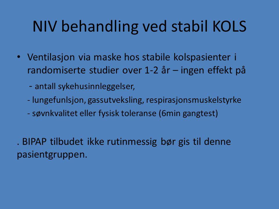 NIV behandling ved stabil KOLS