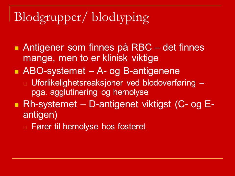 Blodgrupper/ blodtyping