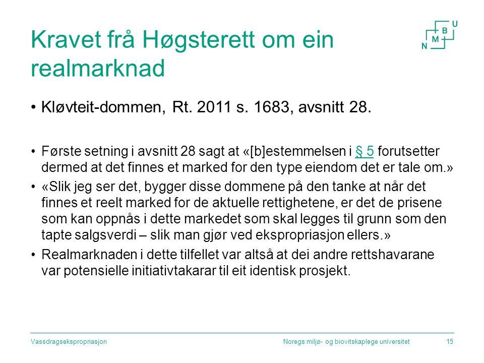 Kravet frå Høgsterett om ein realmarknad