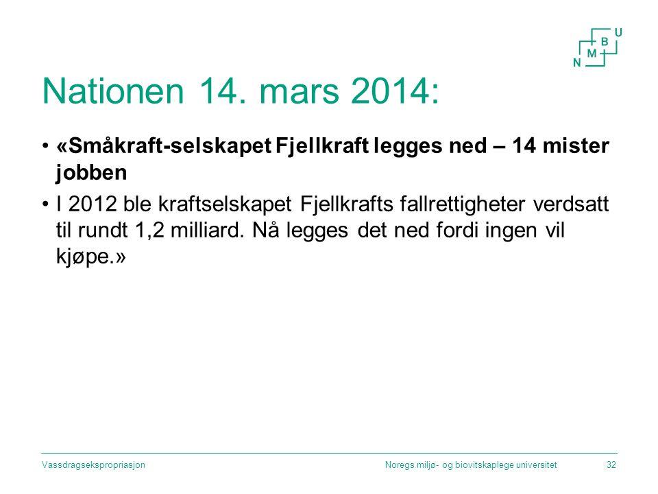 Nationen 14. mars 2014: «Småkraft-selskapet Fjellkraft legges ned – 14 mister jobben.