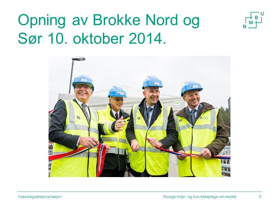 Opning av Brokke Nord og Sør 10. oktober 2014.