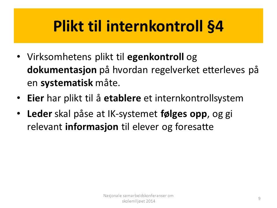 Plikt til internkontroll §4