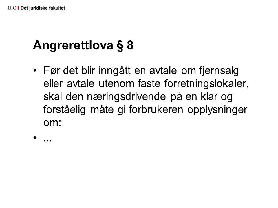 Angrerettlova § 8