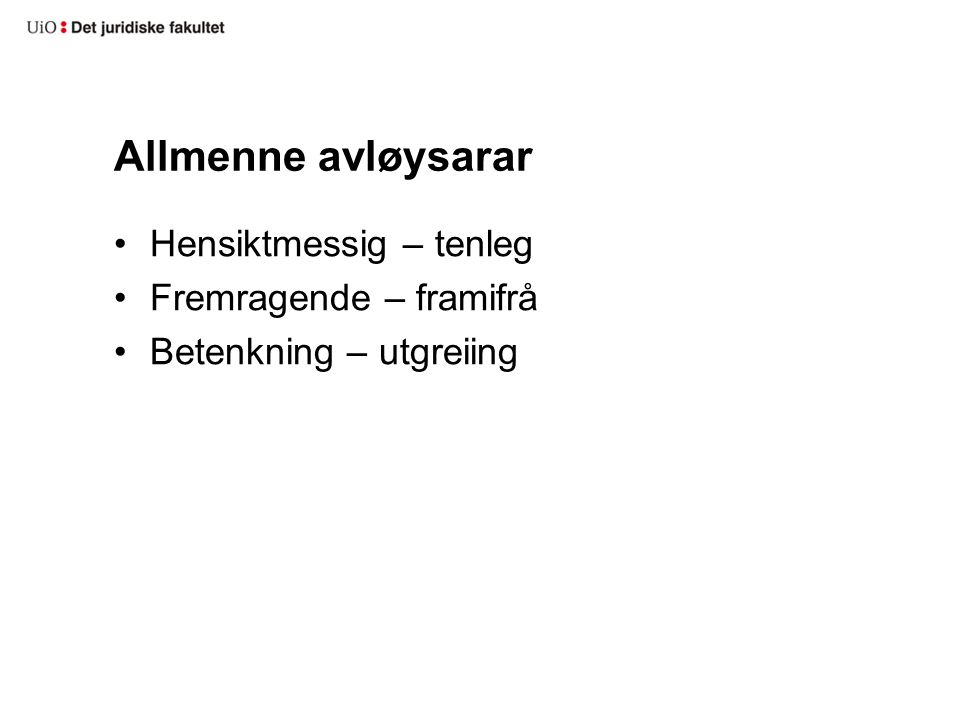 forpliktelser på nynorsk joutseno