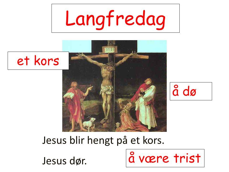 Langfredag et kors å dø å være trist Jesus blir hengt på et kors.