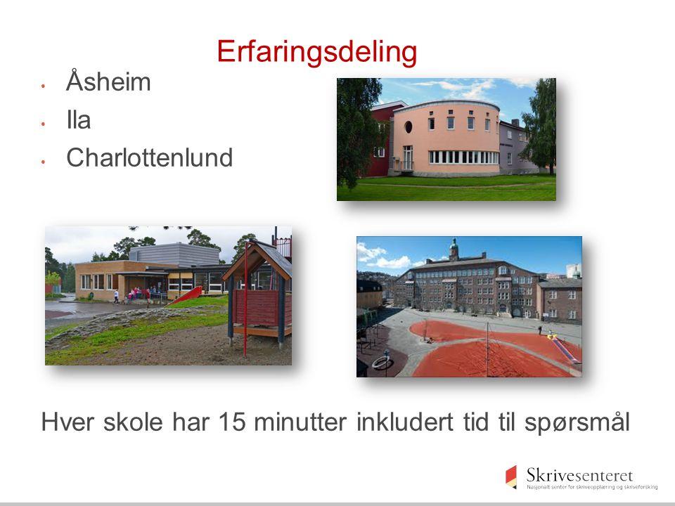 Erfaringsdeling Åsheim Ila Charlottenlund