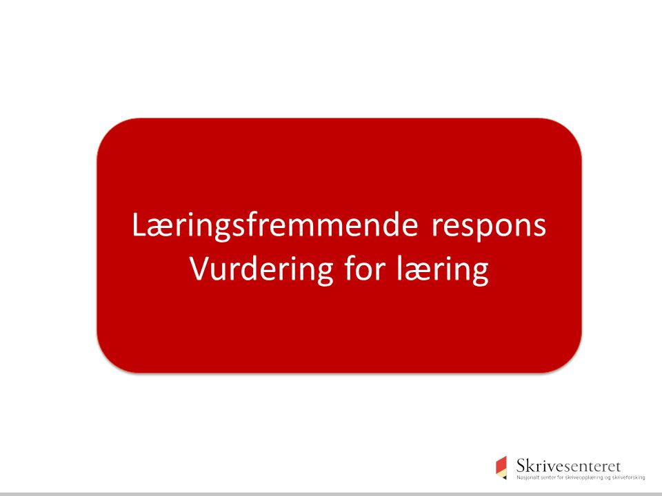 Læringsfremmende respons