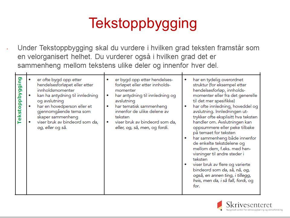 Tekstoppbygging