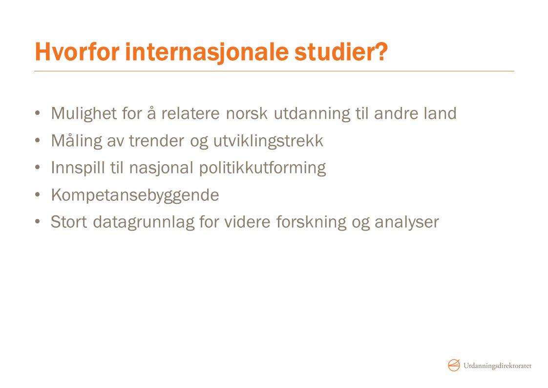 Hvorfor internasjonale studier