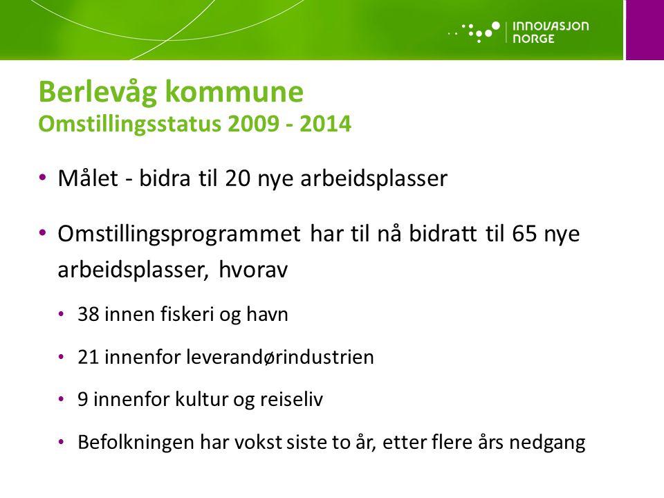 Berlevåg kommune Omstillingsstatus 2009 - 2014