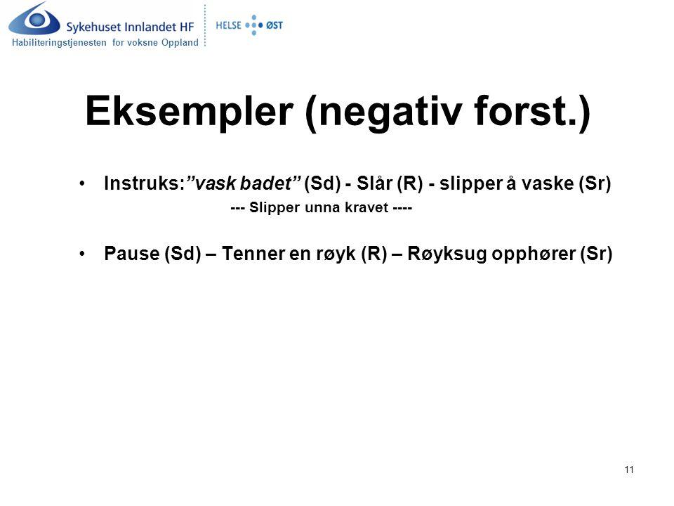 Eksempler (negativ forst.)