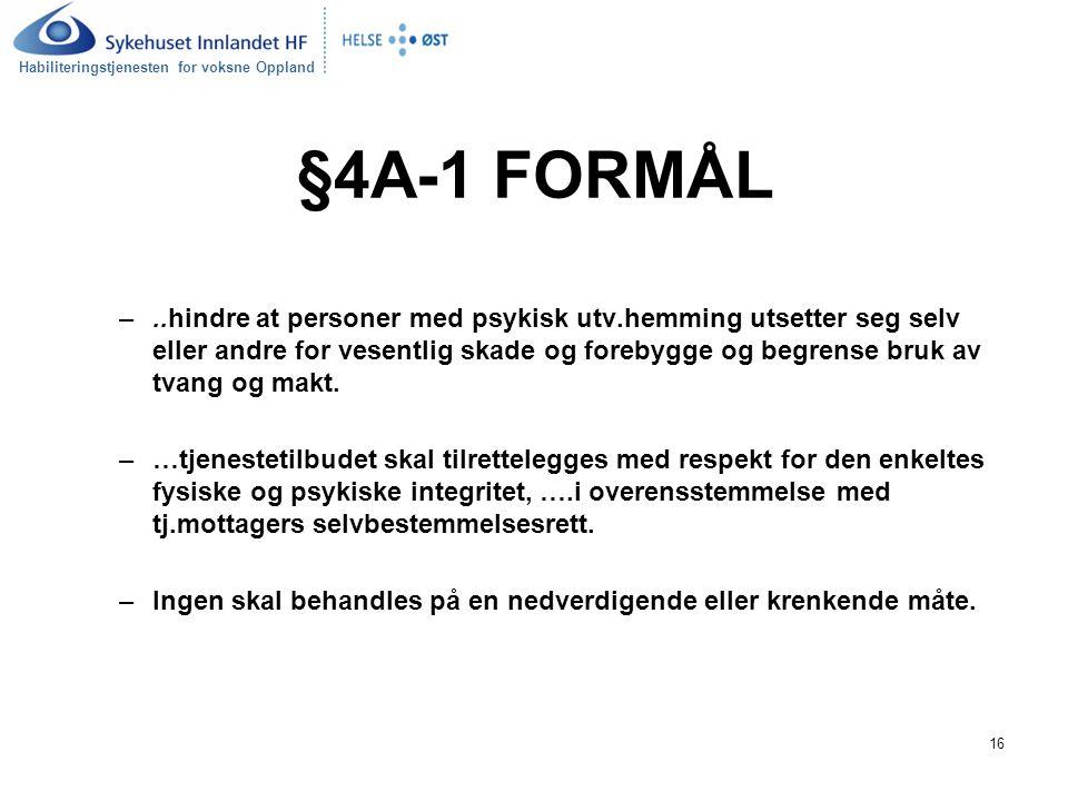 §4A-1 FORMÅL