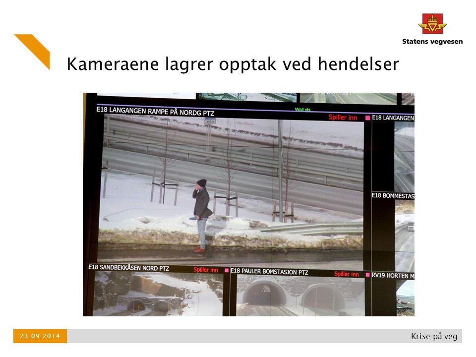 Kameraene lagrer opptak ved hendelser