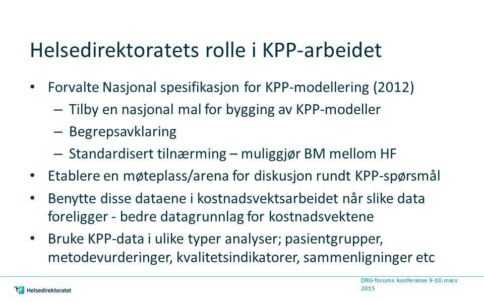 Helsedirektoratets rolle i KPP-arbeidet