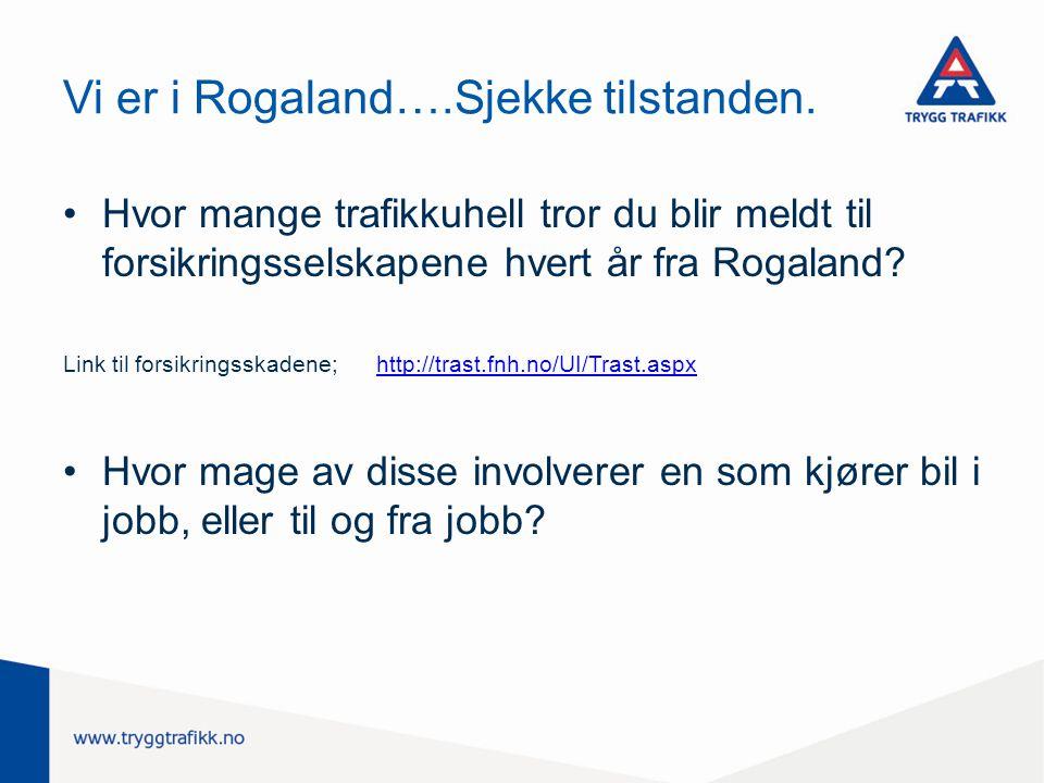 Vi er i Rogaland….Sjekke tilstanden.
