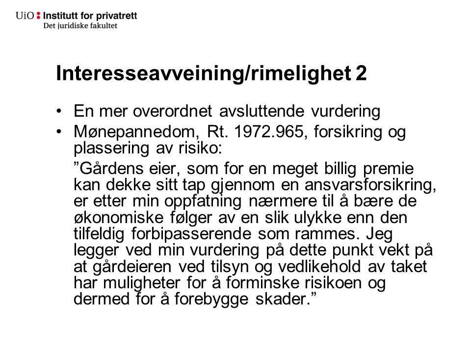 Interesseavveining/rimelighet 2