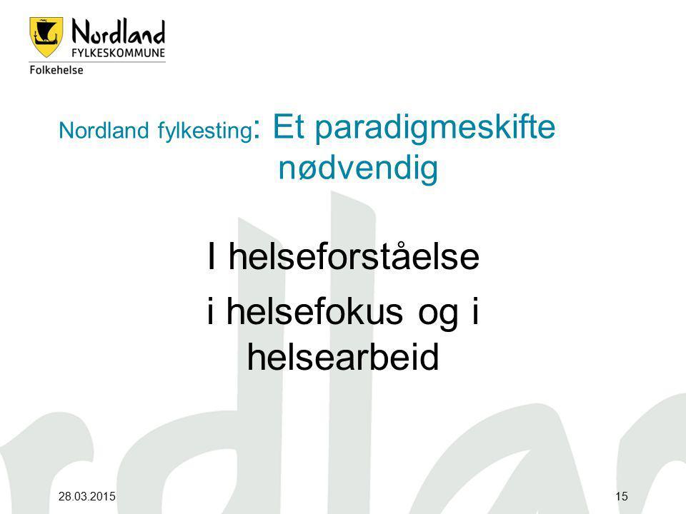 Nordland fylkesting: Et paradigmeskifte nødvendig