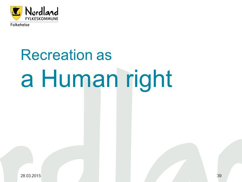 Recreation as a Human right