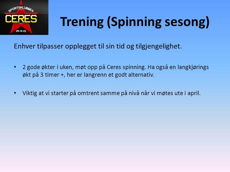 Trening (Spinning sesong)