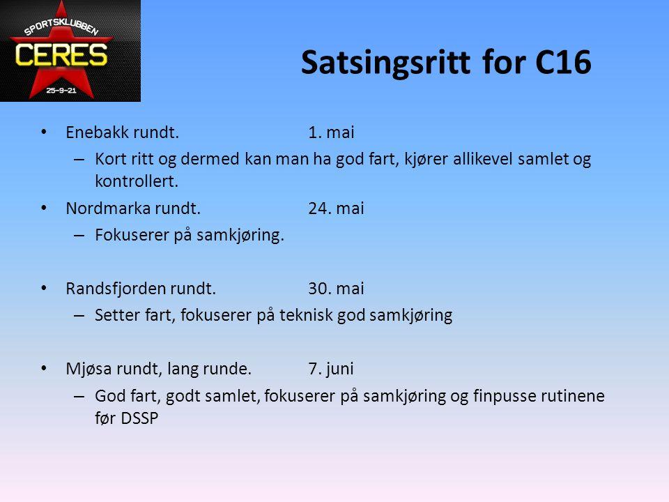 Satsingsritt for C16 Enebakk rundt. 1. mai