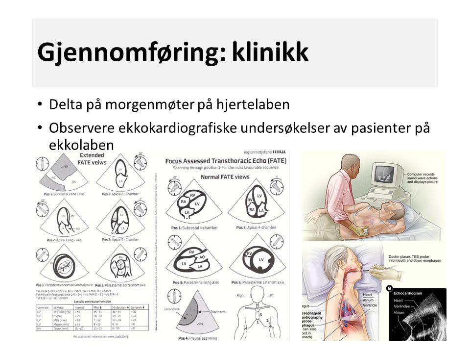 Gjennomføring: klinikk