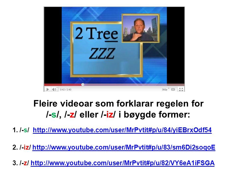 Fleire videoar som forklarar regelen for