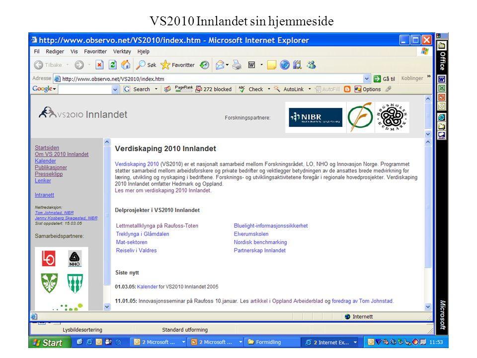 VS2010 Innlandet sin hjemmeside