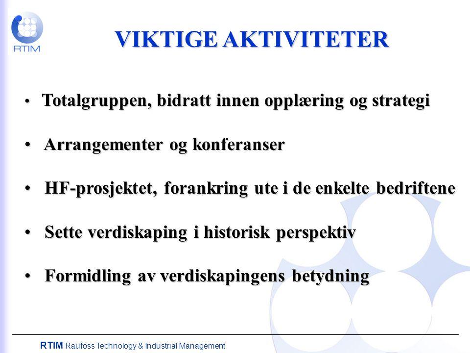 VIKTIGE AKTIVITETER Arrangementer og konferanser