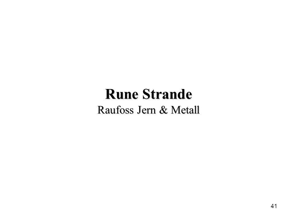 Rune Strande Raufoss Jern & Metall