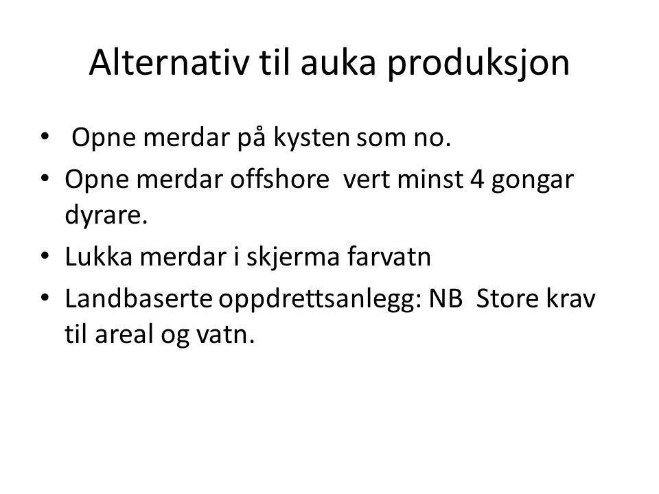 Alternativ til auka produksjon