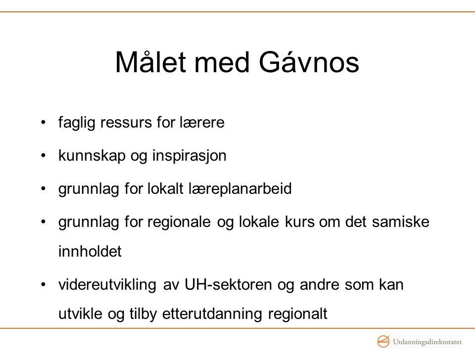 Målet med Gávnos faglig ressurs for lærere kunnskap og inspirasjon