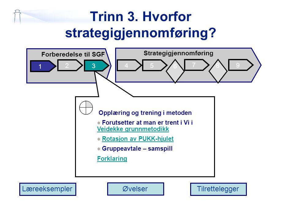 Trinn 3. Hvorfor strategigjennomføring