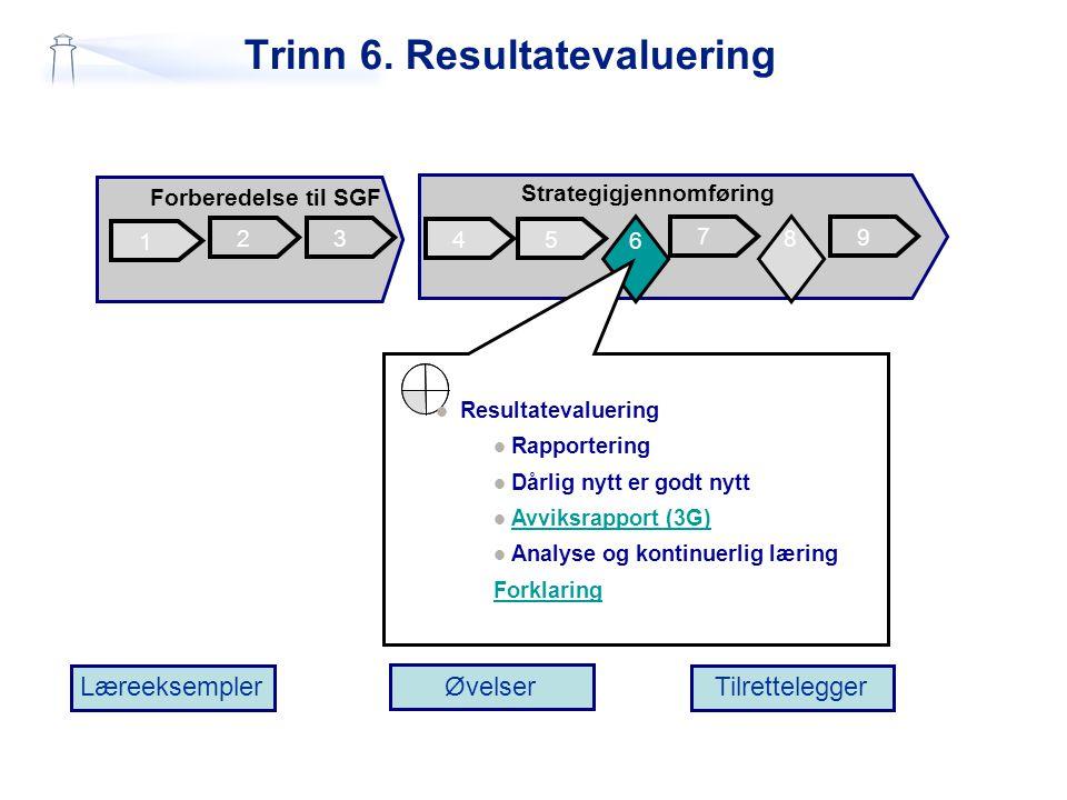 Trinn 6. Resultatevaluering