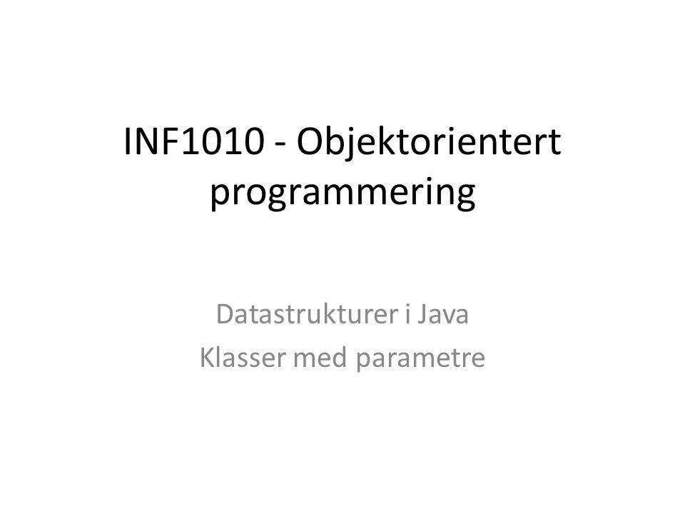 INF1010 - Objektorientert programmering