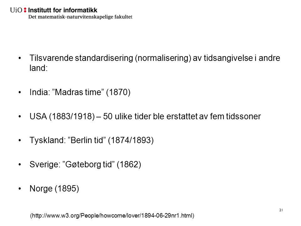 Jernbanen medførte standardisering av bl.a. tidsangivelse